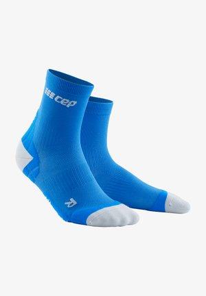 Sports socks - electric blue/light grey