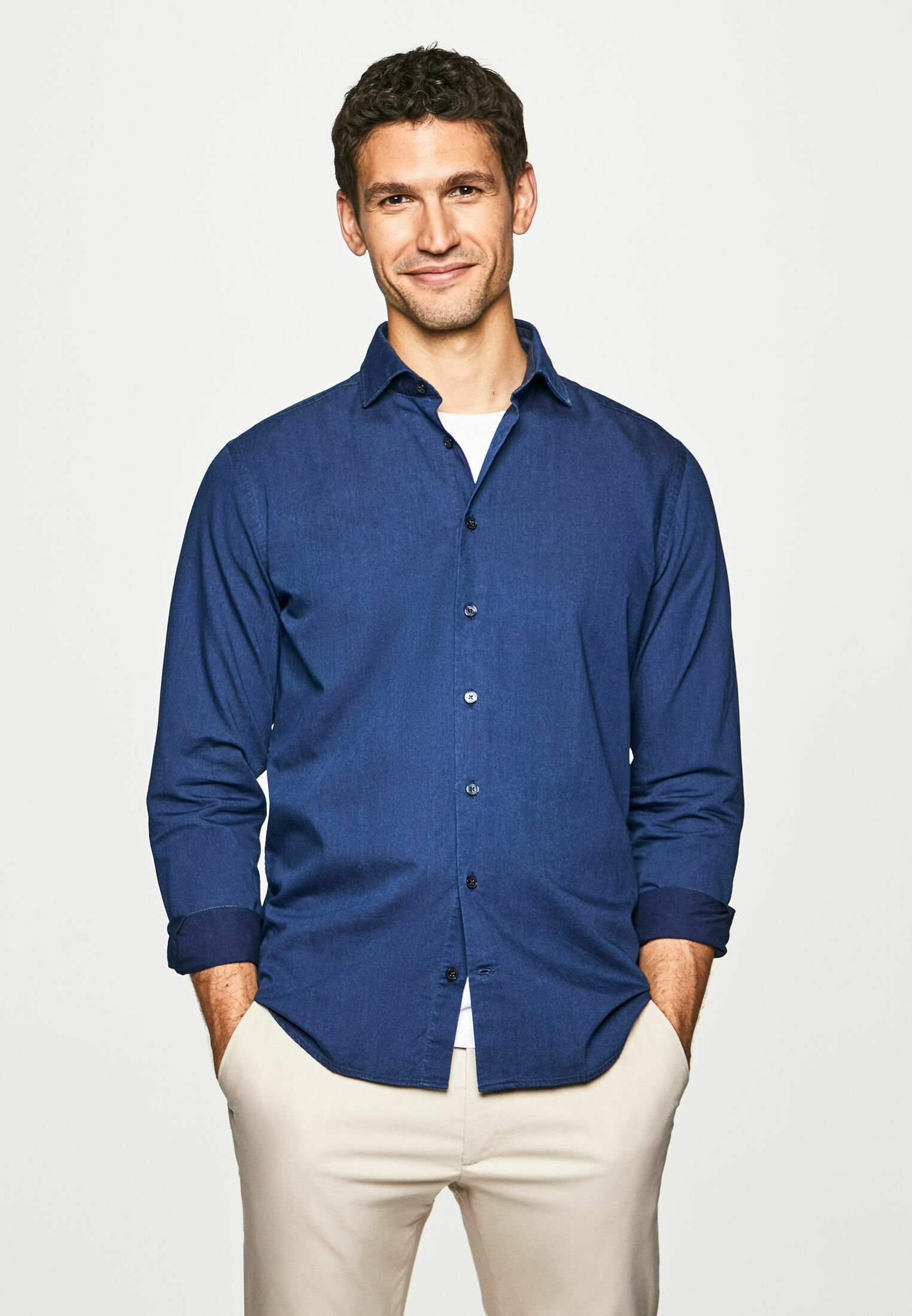Herren DENIM TWILL - Hemd