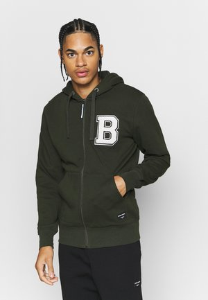CENTRE ZIP HOOD - Mikina na zip - rosin