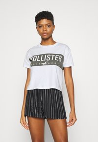 Hollister Co. - T-shirt med print - white - 0