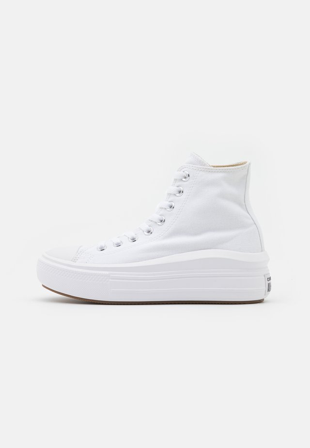 CHUCK TAYLOR ALL STAR MOVE - Korkeavartiset tennarit - white/natural ivory/black