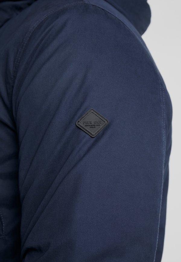 Pier One Parka - dark blue/granatowy Odzież Męska RXVE