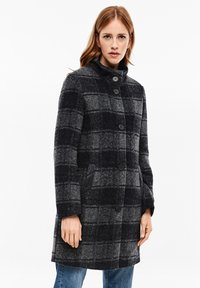 s.Oliver - MANTEL - Classic coat - navy check - 3