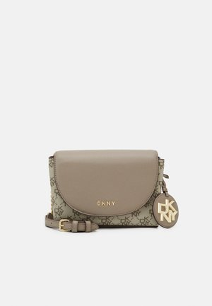 DAYNA FLAP CBODY LOGO - Across body bag - khaki/soft clay