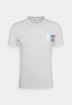 SCRIPT BOX LOGO TEE - T-shirt imprimé - grey