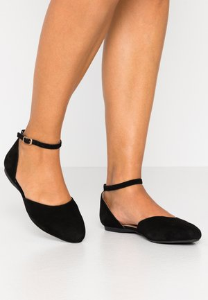 LEATHER - Ballerinasko m/ rem - black