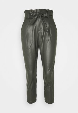 VMEVA PAPERBAG ANKLE PANTS - Trousers - peat
