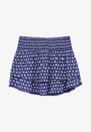 MIT VOLANTS UND SPITZE - Spódnica trapezowa - dark blue denim