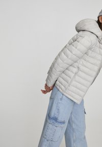 PULL&BEAR - Winter jacket - mottled light grey - 4