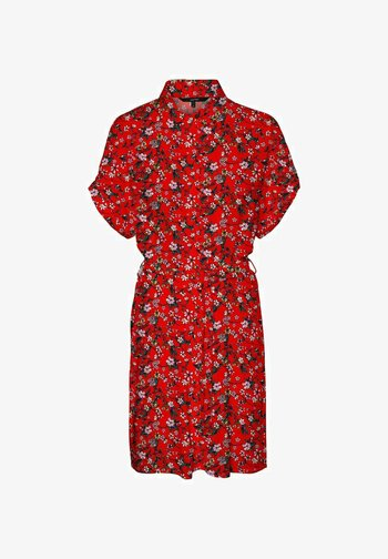 VMSIMPLY EASY SHIRT DRESS - Vestido camisero - goji berry