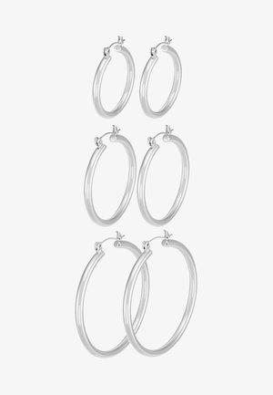 PCSELINDA EARRINGS 3 PACK - Øredobber - silver-coloured