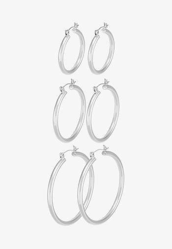 PCSELINDA EARRINGS 3 PACK - Korvakorut - silver-coloured