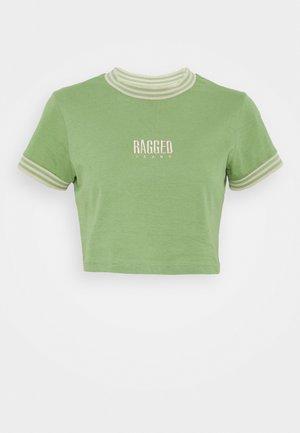 PRIME TEE - Print T-shirt - green/beige