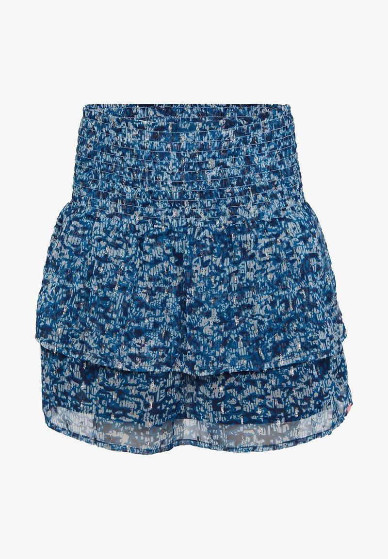 WE Fashion - WE FASHION MÄDCHENROCK MIT MUSTER UND GLITZER-DETAILS - A-line skirt - dark blue