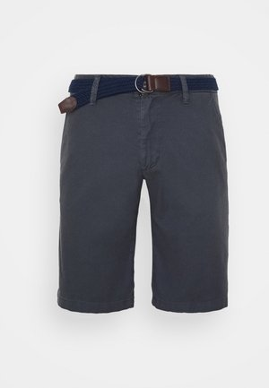BERMUDA WITH BELT - Shorts - ebony
