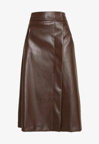MIDI SKIRT - Áčková sukně - brown
