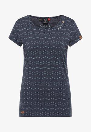 MINT CHEVRON - Print T-shirt - navy