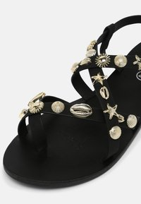 Rubi Shoes by Cotton On - TYRA MULTI STRAP - Sandals - black/ gold - 7
