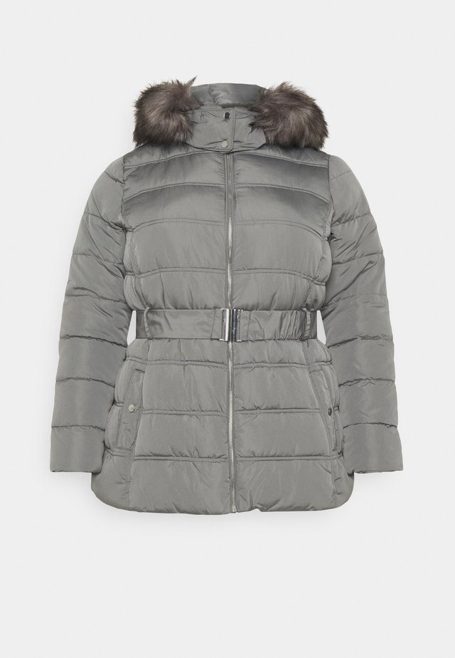 ELLIE BELTED FITTED PUFFER - Parka - mid grey