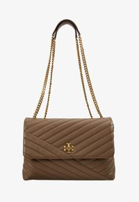 Tory Burch - KIRA CHEVRON CONVERTIBLE SHOULDER BAG - Bolso de mano - classic taupe - 5