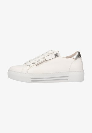 Sneakers laag - weiss/silber