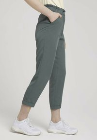 TOM TAILOR DENIM - Trousers - dusty pine green - 3