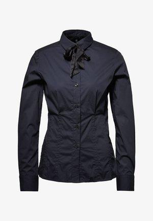 SYENITE SLIM BOW - Button-down blouse - mazarine blue