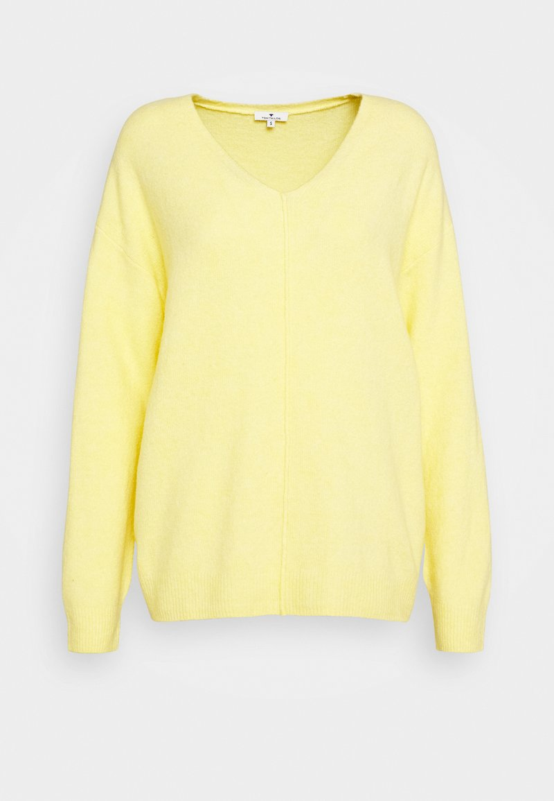 TOM TAILOR - COZY V NECK - Jumper - honey popcorn melange
