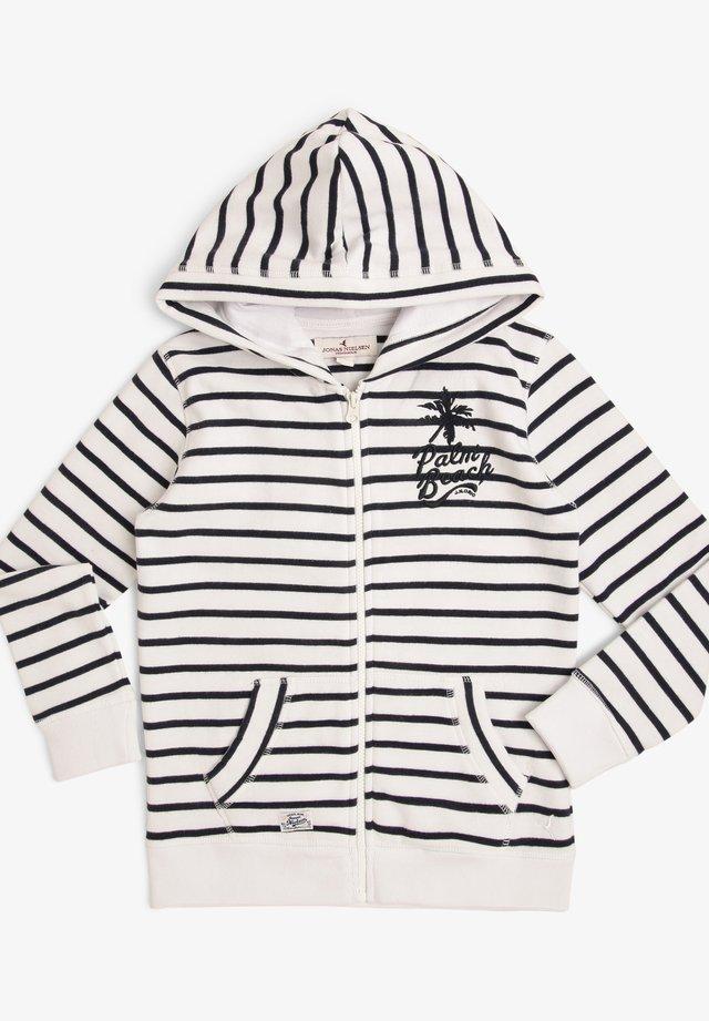 SWEATJACKE - Zip-up hoodie - weiß marine