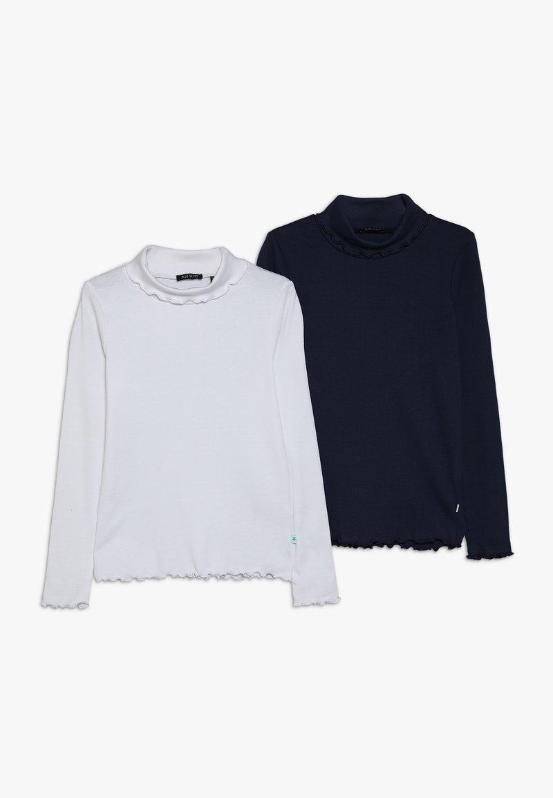 Blue Seven - ROLLKRAGEN 2 PACK - Långärmad tröja - dunkelblau/weiss