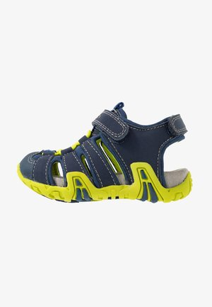 KRAZE - Walking sandals - navy/lime