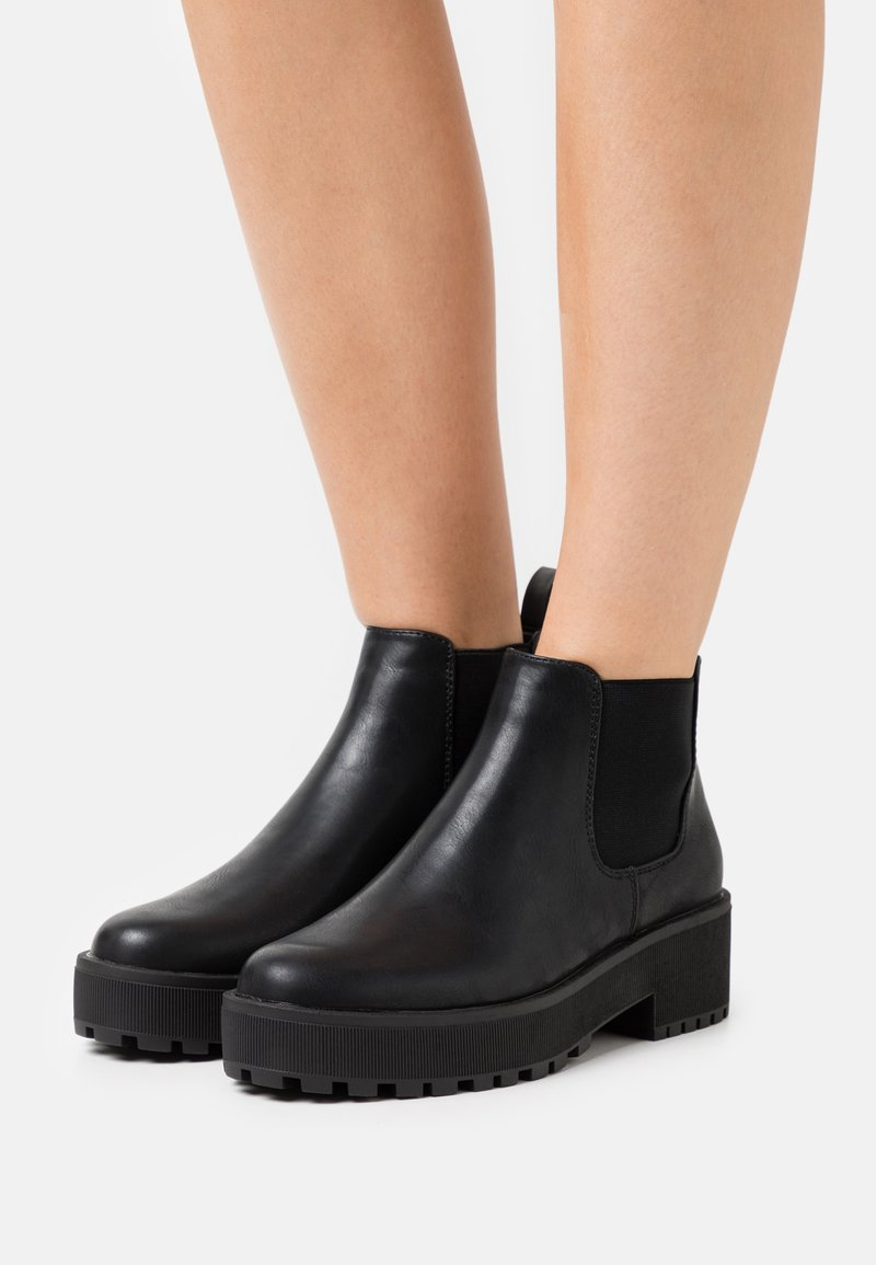 Even&Odd - Platform ankle boots - black