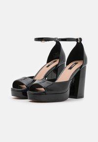 ONLY SHOES - ONLAERIN STRUCTURE  - Sandály na vysokém podpatku - black - 2