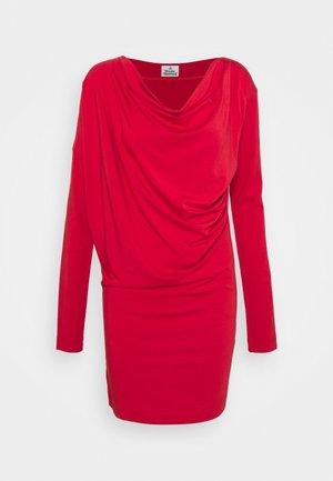 DRAPE TUNIC DRESS - Jersey dress - red