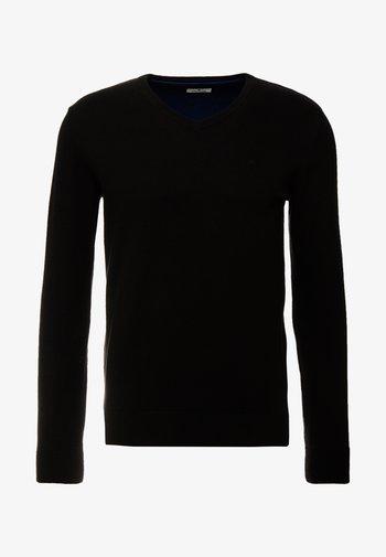 BASIC V NECK  - Stickad tröja - black