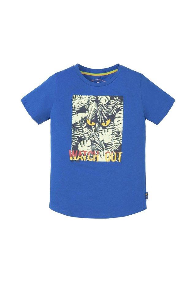 MIT GROSSFLÄCHIGEM PRINT - T-shirt print - victoria blue blue