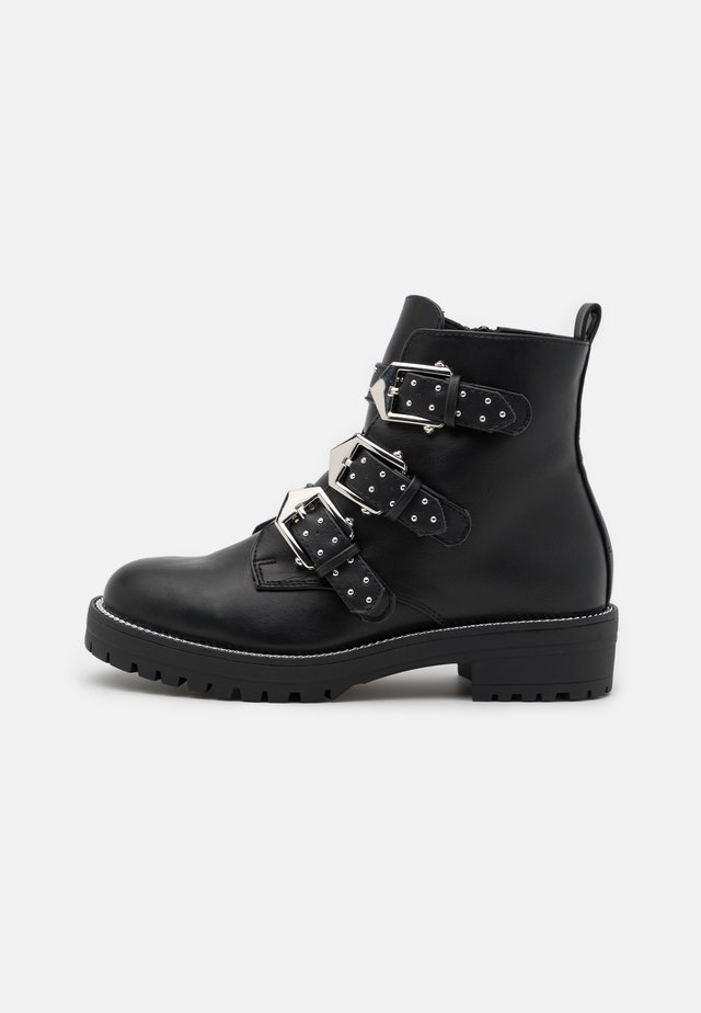 POWWELL - Bottines à plateau - black