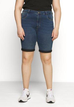 CARAUGUSTA LONG  - Shorts - medium blue denim