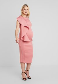 True Violet Maternity - WOW SIDE FRILL BODYCON - Kotelomekko - dusty rose - 0