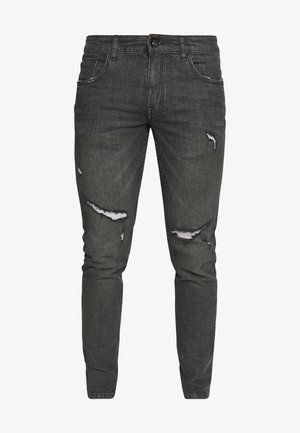 STOCKHOLM DESTROY - Jeansy Skinny Fit - vintage black