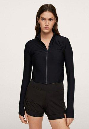 Sweater met rits - zwart