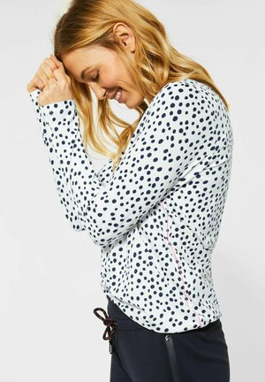 MIT PUNKTEN - Long sleeved top - weiß