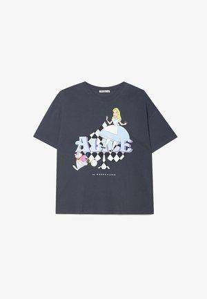 DISNEY ALICE - T-shirt imprimé - dark grey