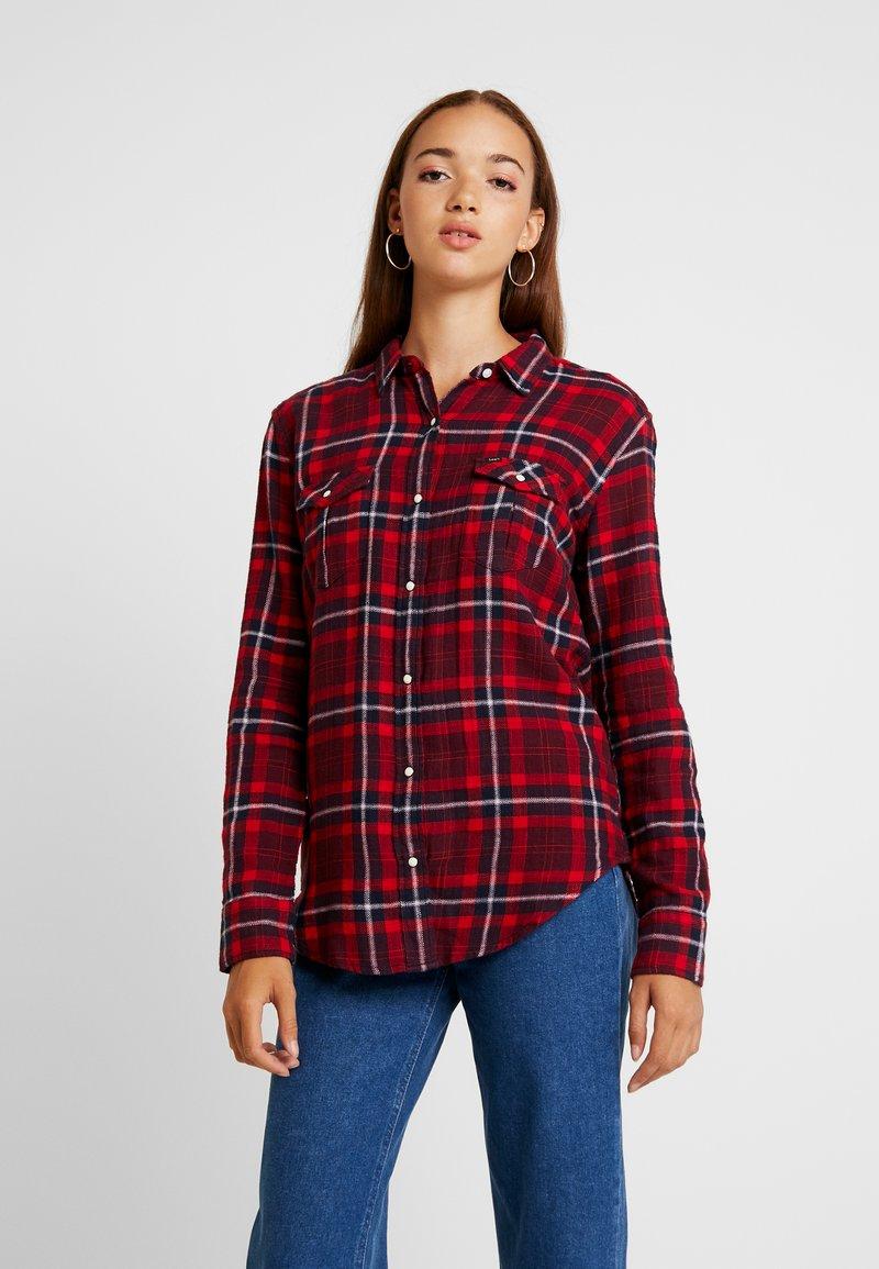 Lee - REGULAR WESTERN - Button-down blouse - warp red