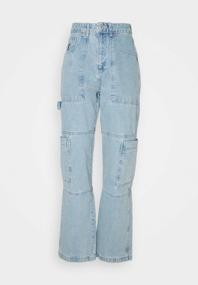 STRAIGHT LEG COMBAT - Straight leg jeans - blue