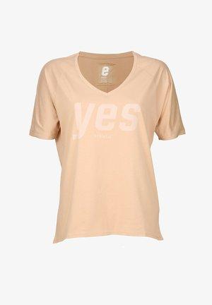 YES - T-shirt print - light clay