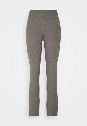 WIDE LEG TROUSER - Bukser - mid grey