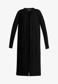 Noisy May - NMCITY LONG CARDIGAN - Vest - black - 3