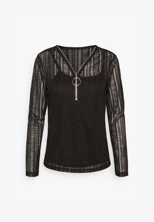TALU - Long sleeved top - noir