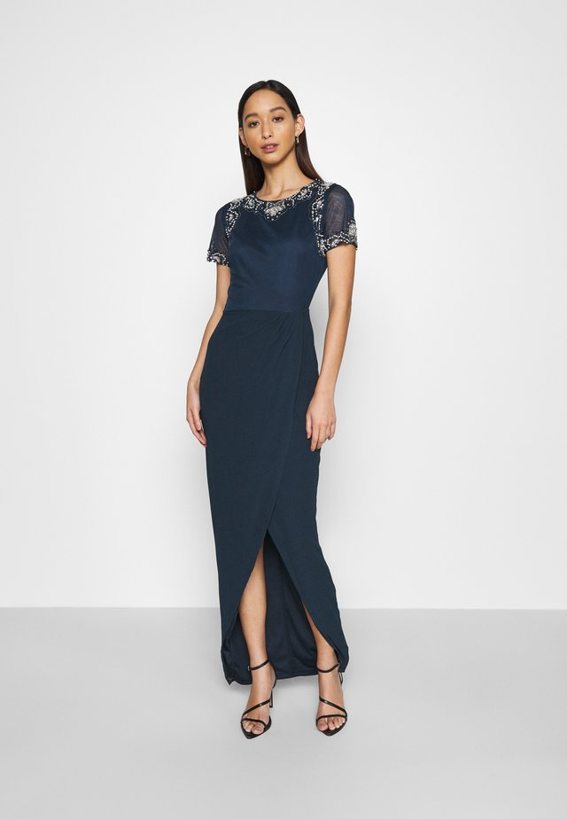 FREYA WRAP MAXI - Occasion wear - navy
